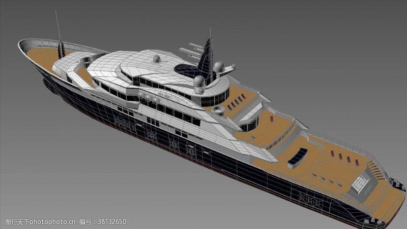 3d设计模型游艇模型