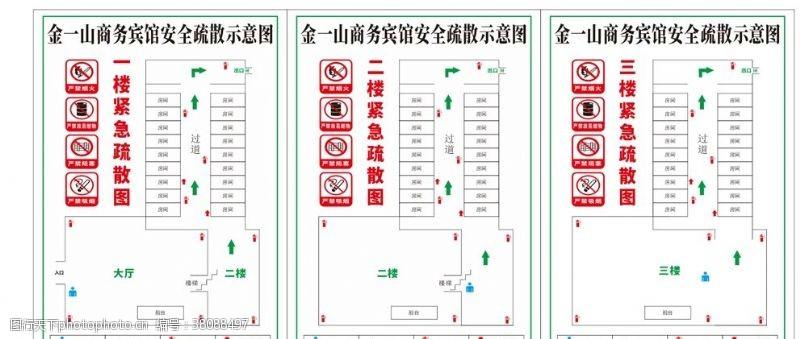 紧急疏散图紧急疏散通道图