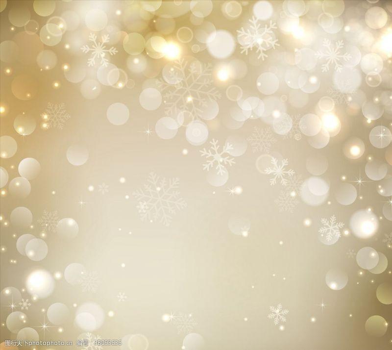 金色圣诞背景火花