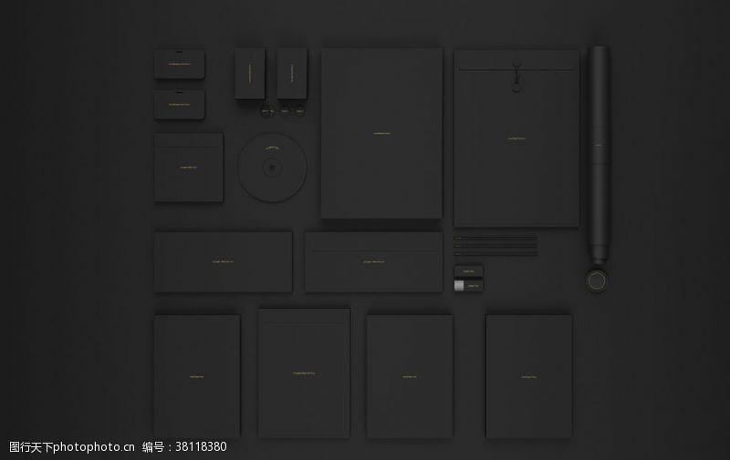 vi应用模板黑色调VI模板