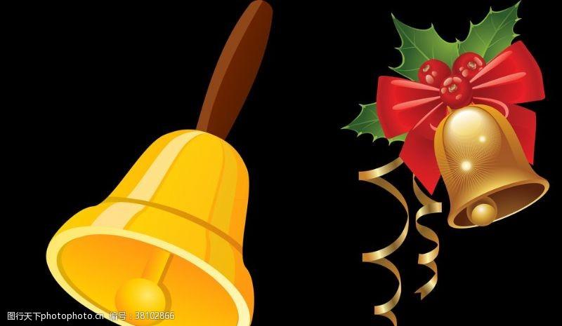 金色铃铛圣诞节装饰品
