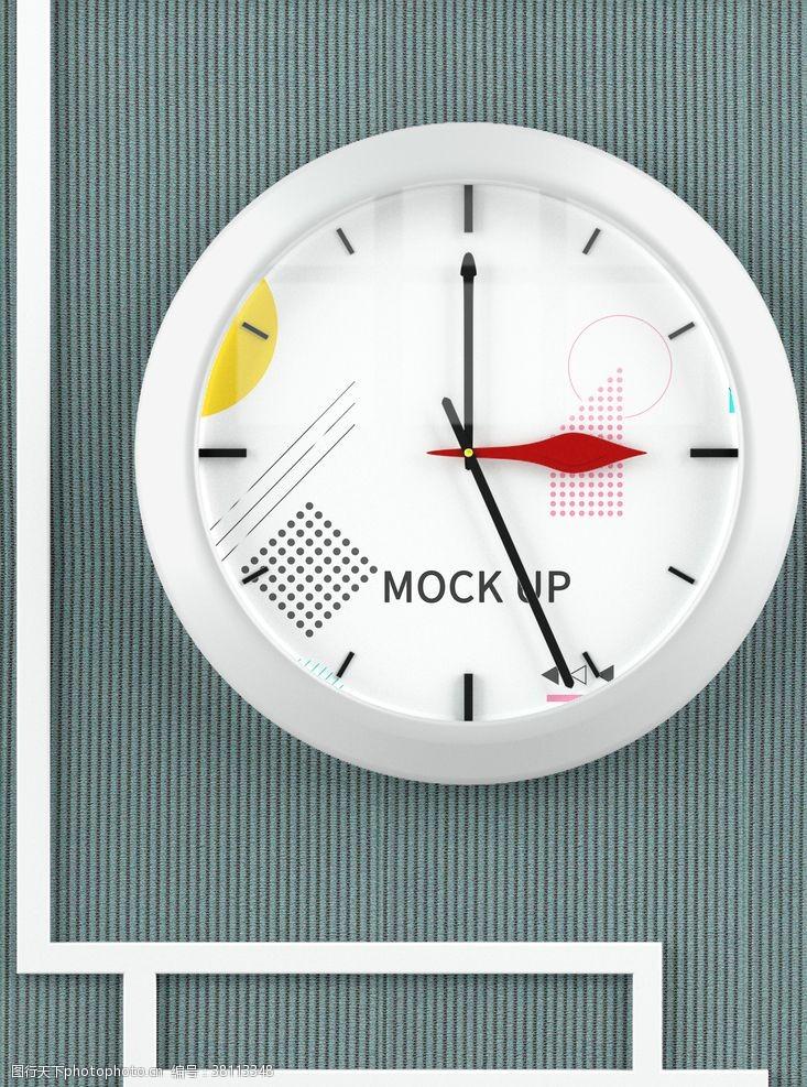 电子钟挂钟样机
