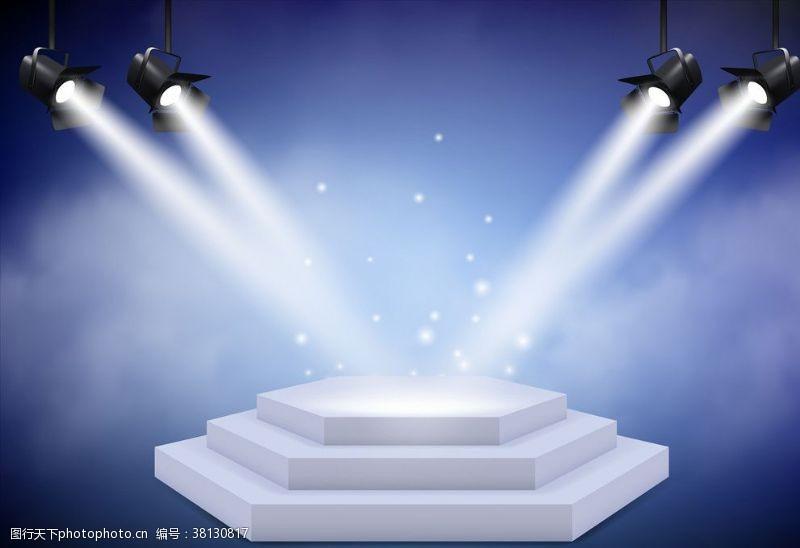 k歌背景聚光灯舞台