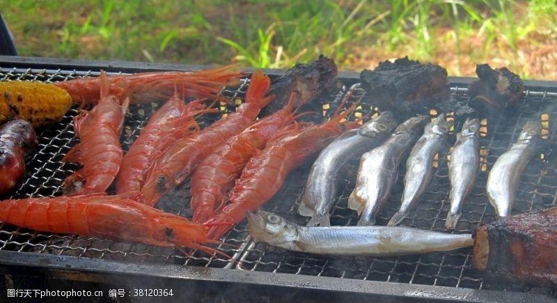 贝类海鲜烤海鲜