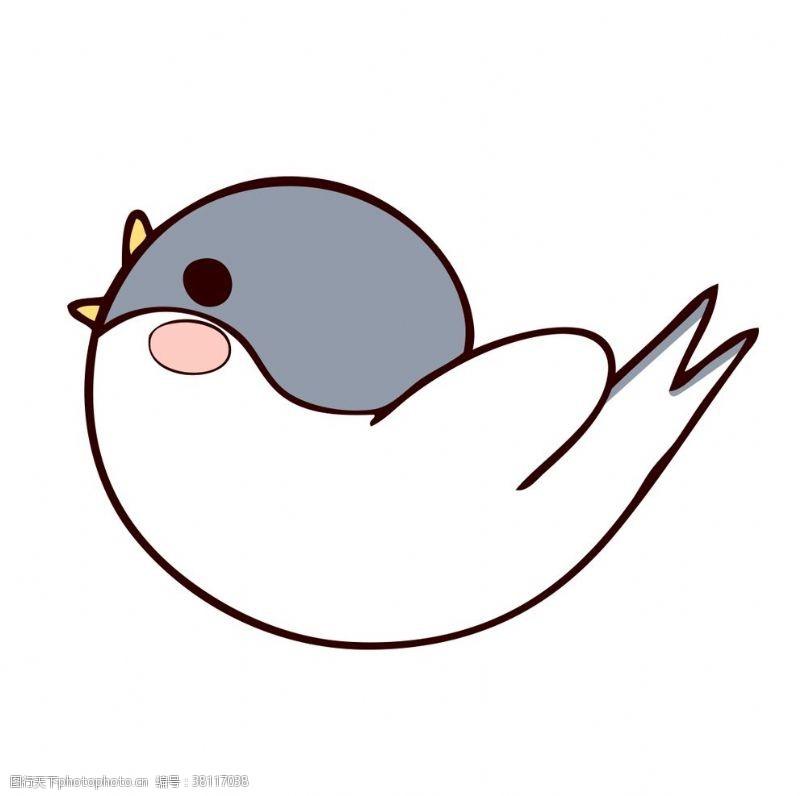 可爱小鸟卡通小鸟