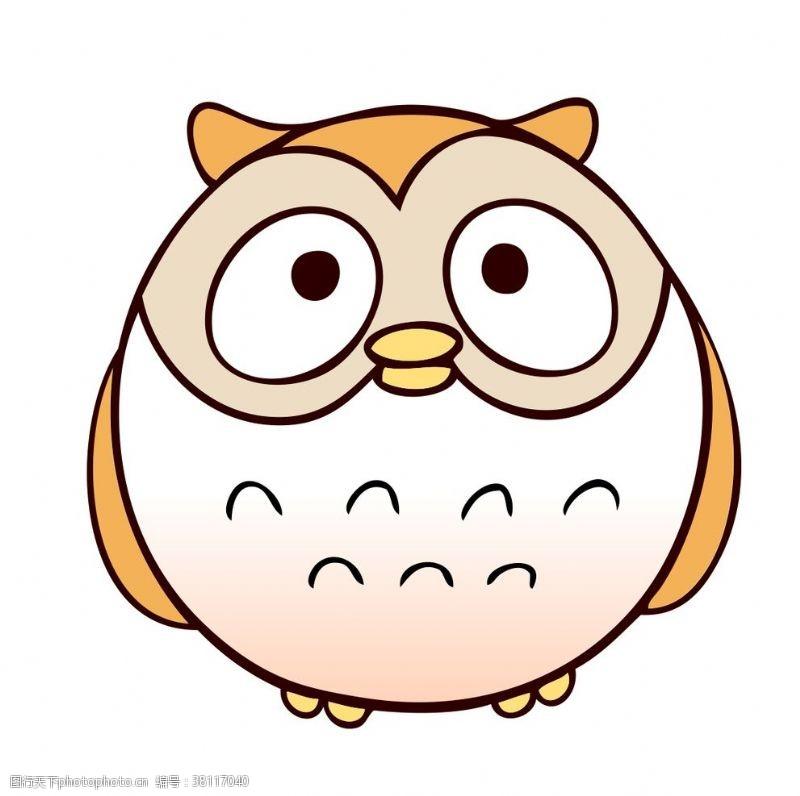 可爱小鸟猫头鹰小鸟