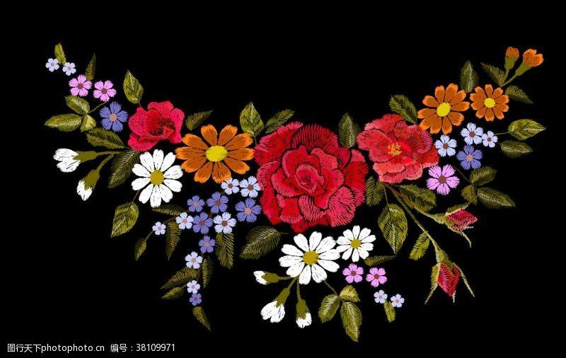 绣花图案绣花