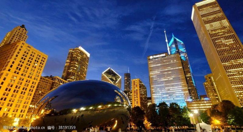 芝加哥夜景高楼