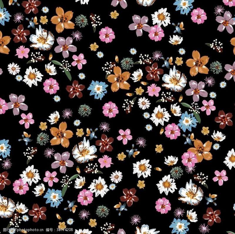 家居用品植物花卉印花小碎花拼接