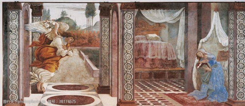 305dpi欧式古典人物场景油画
