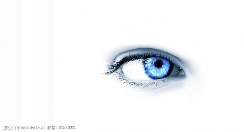 蓝眼睛眼睛广告
