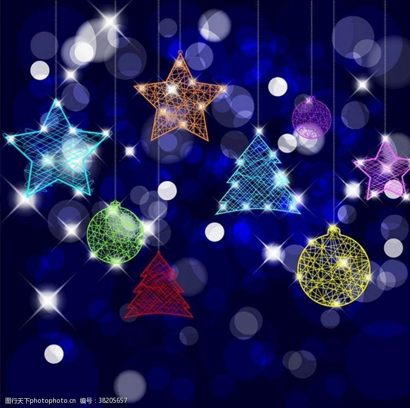 圣诞星星灯光