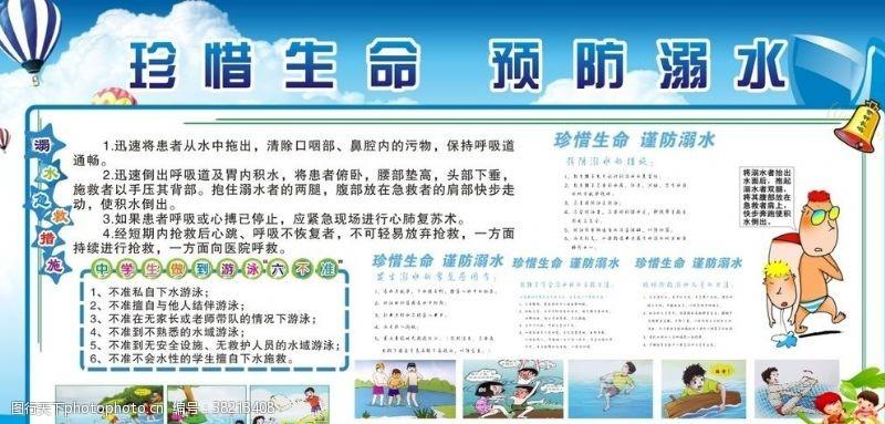 小学生安全防溺水展板