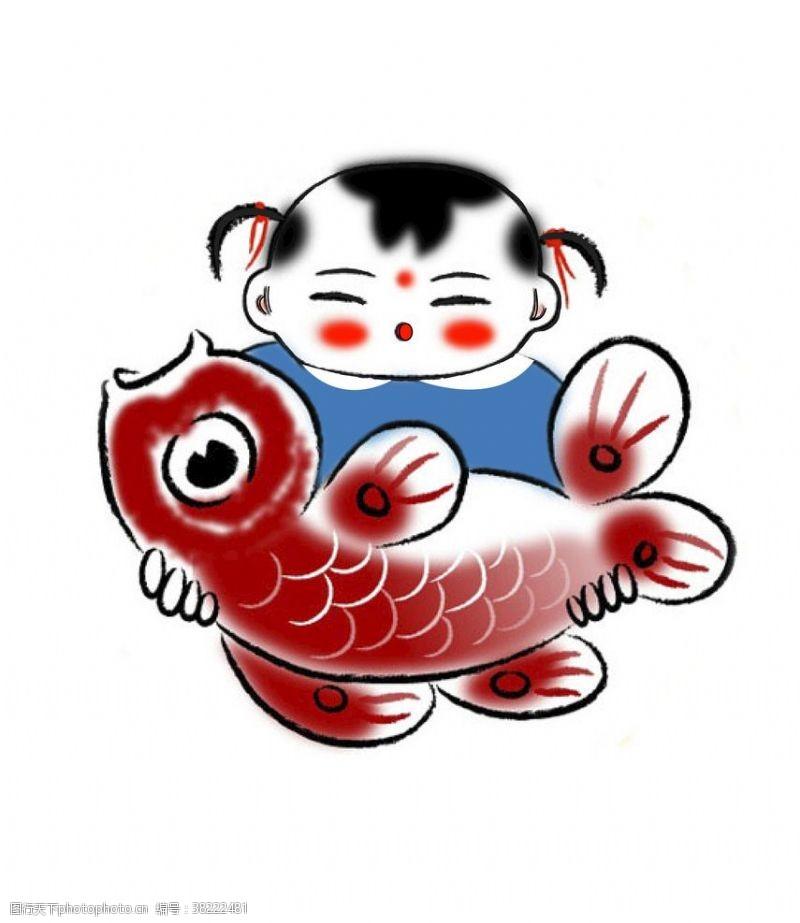 海报设计福娃报鱼
