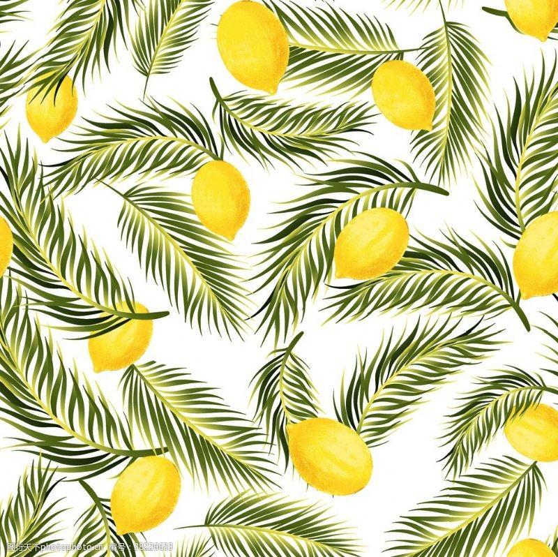 清新花纹柠檬