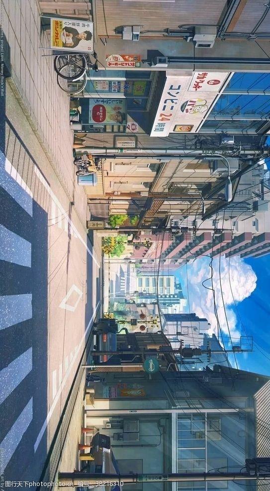 新海诚人行道大街漫画壁纸