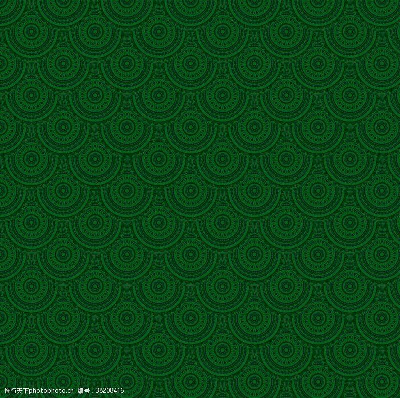 绿色花纹深绿色背景