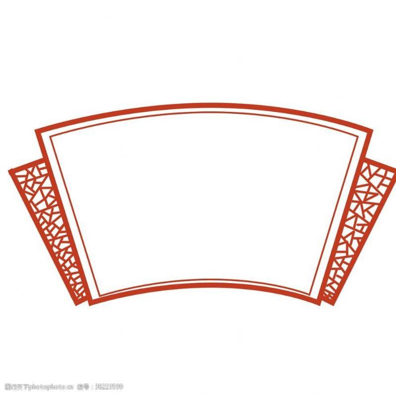 平面設計矢量中式邊框花紋裝飾