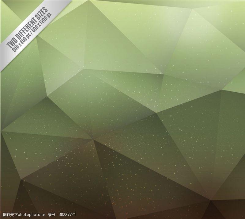 源文件綠色背景多角形