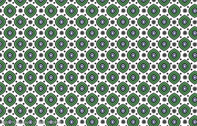 绿色花纹简笔画