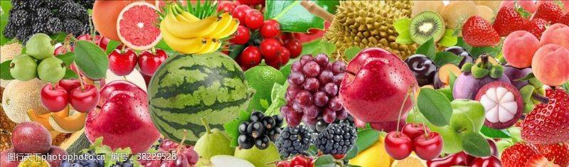 水果店背景墙水果混搭背景墙