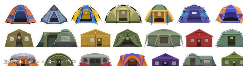 户外露营帐篷海报