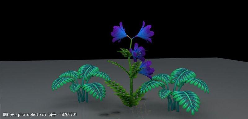 花草模型背景