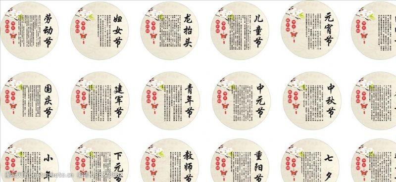 传统节日图节日文化墙传统节日展板