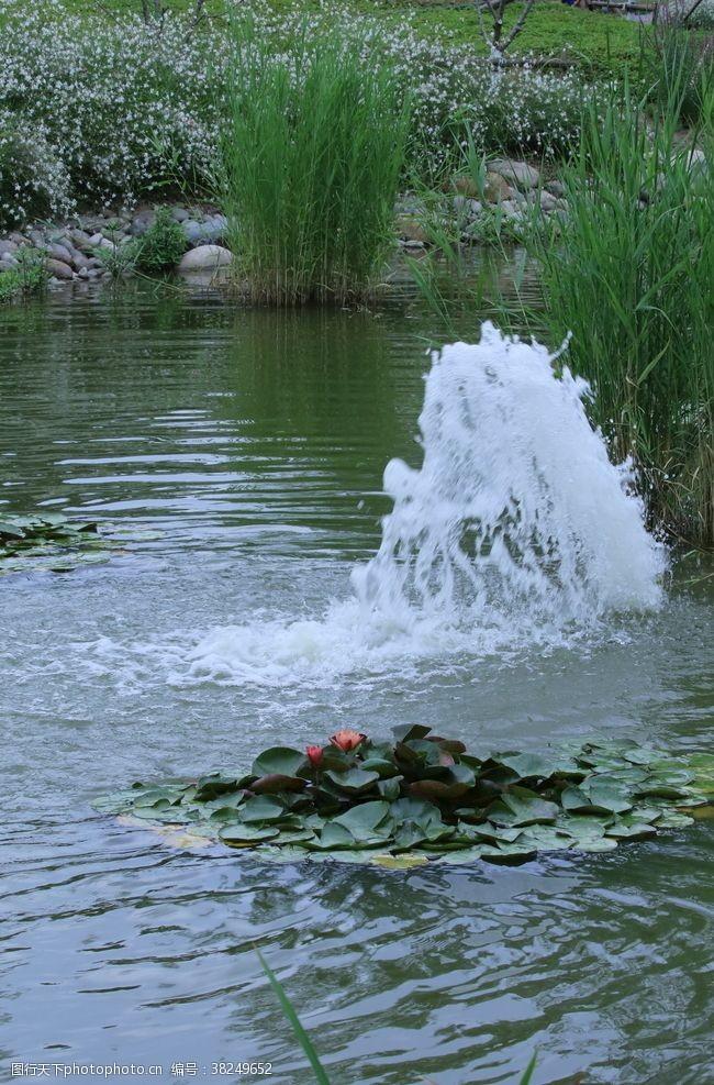 喷泉园林风景