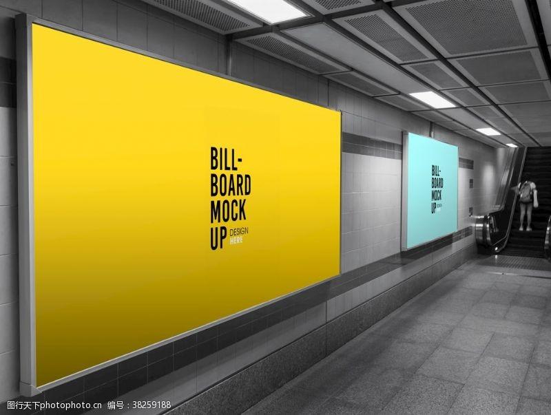 地铁广告样机