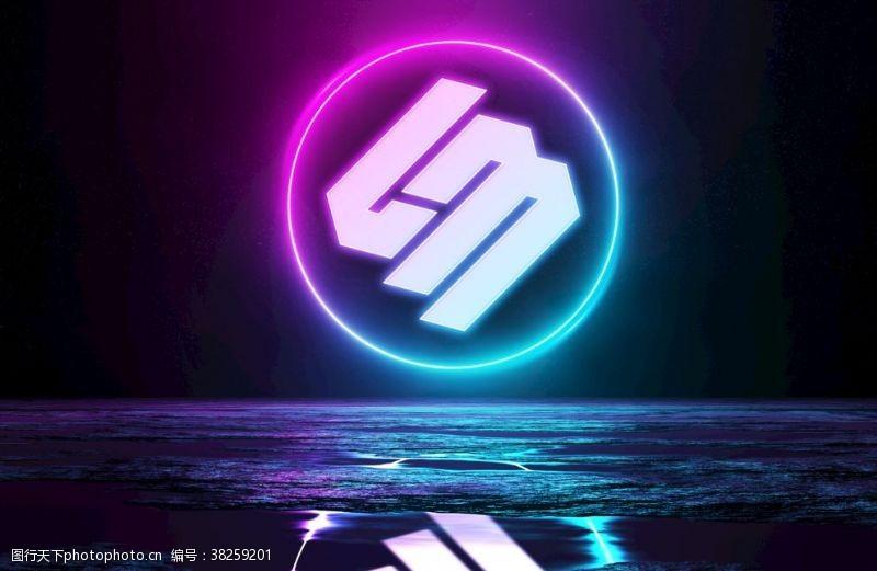 logo贴图样机霓虹灯效果LOGO贴图样机