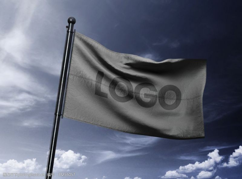 飘舞旗帜样机