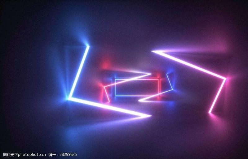 舞蹈表演背景霓虹灯背景