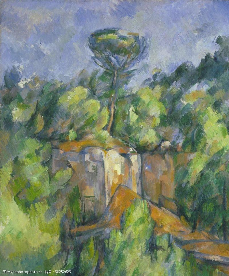 96dpi印象派风景油画