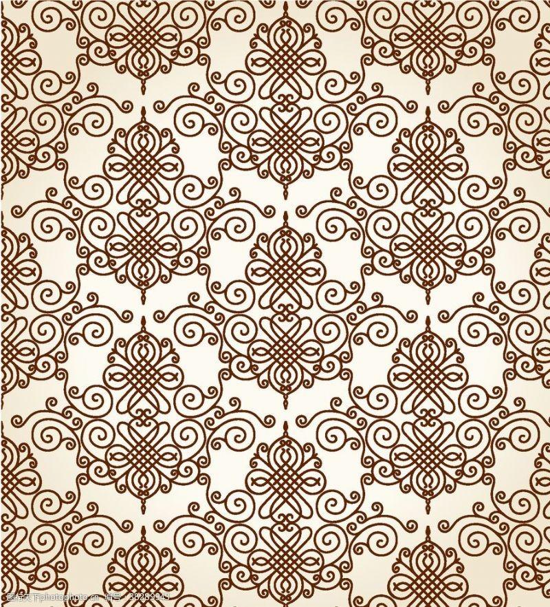 花纹壁纸欧式复古花纹