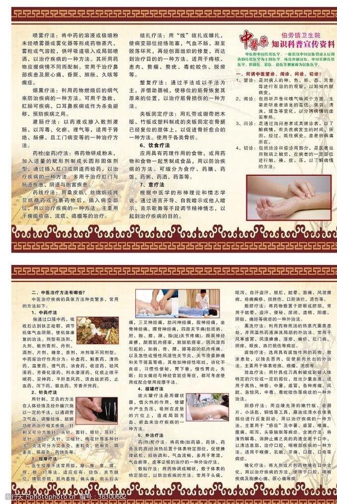中医养生折页中医疗法折页