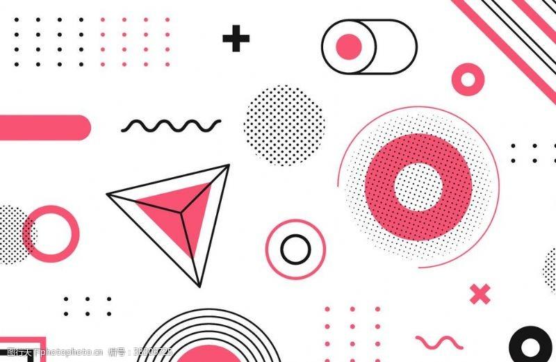 广告杂志几何图形背景元素