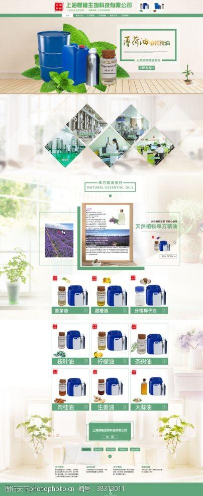 首页装修植物原料网站装修模板