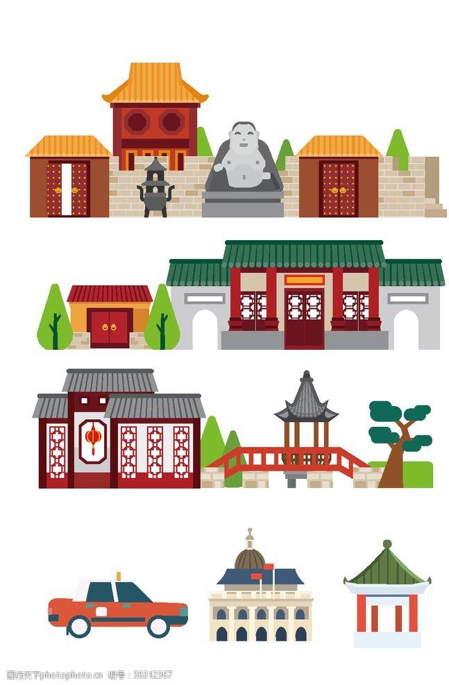 草图大师中式建筑