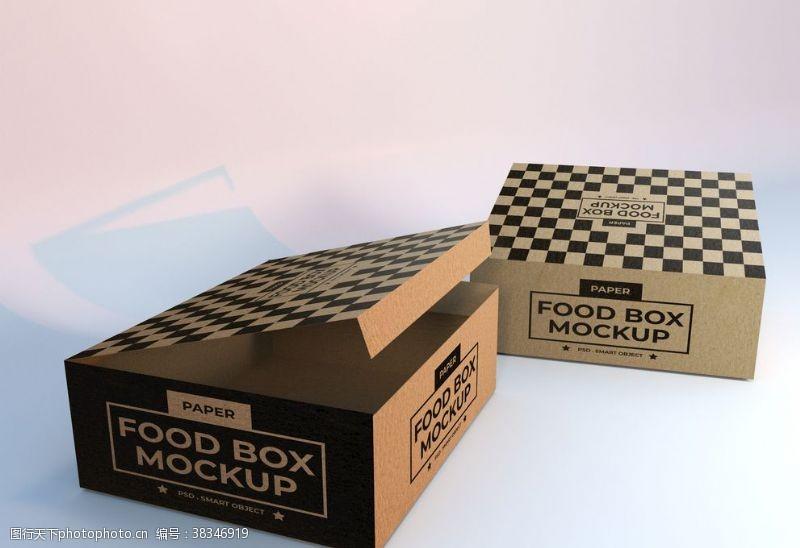 psd包裝箱樣機模板