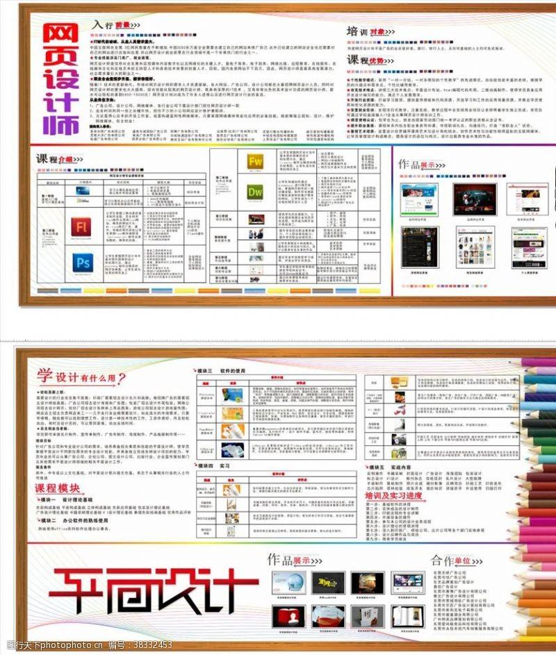 展板模板平面設計培訓宣傳海報