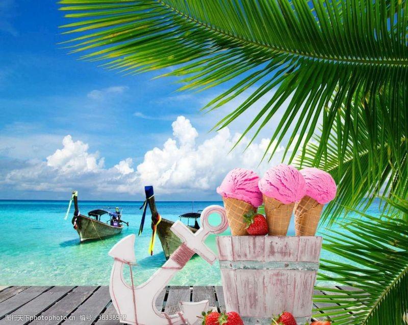 夏日沙灘風景