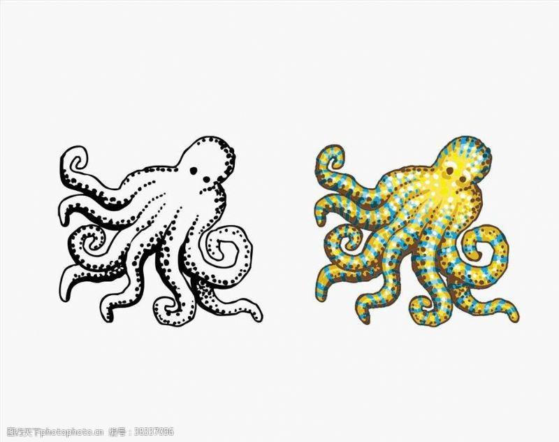 海洋风矢量章鱼