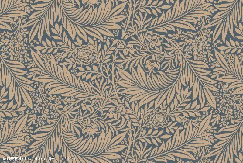 底纹边框植物花朵背景底纹