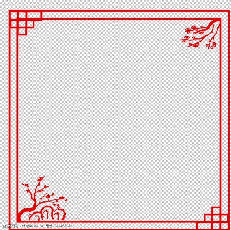 花纹花边中国风花纹