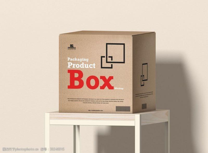 psd產品包裝盒樣機