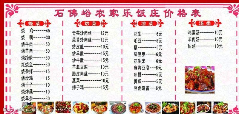 饭店菜单简笔画
