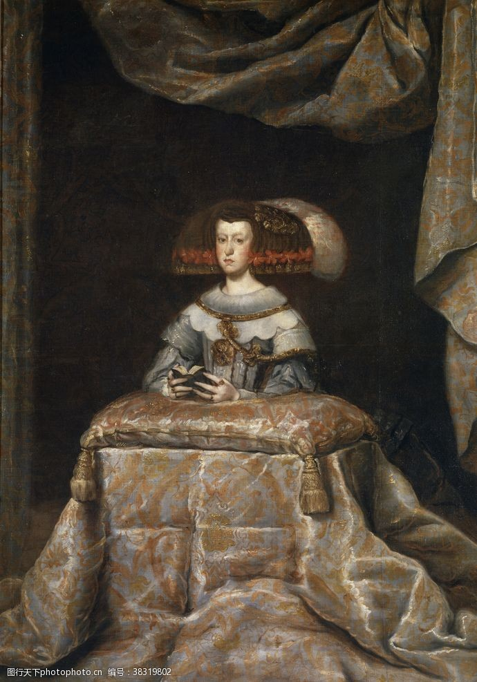 欧式油画古典人物场景油画