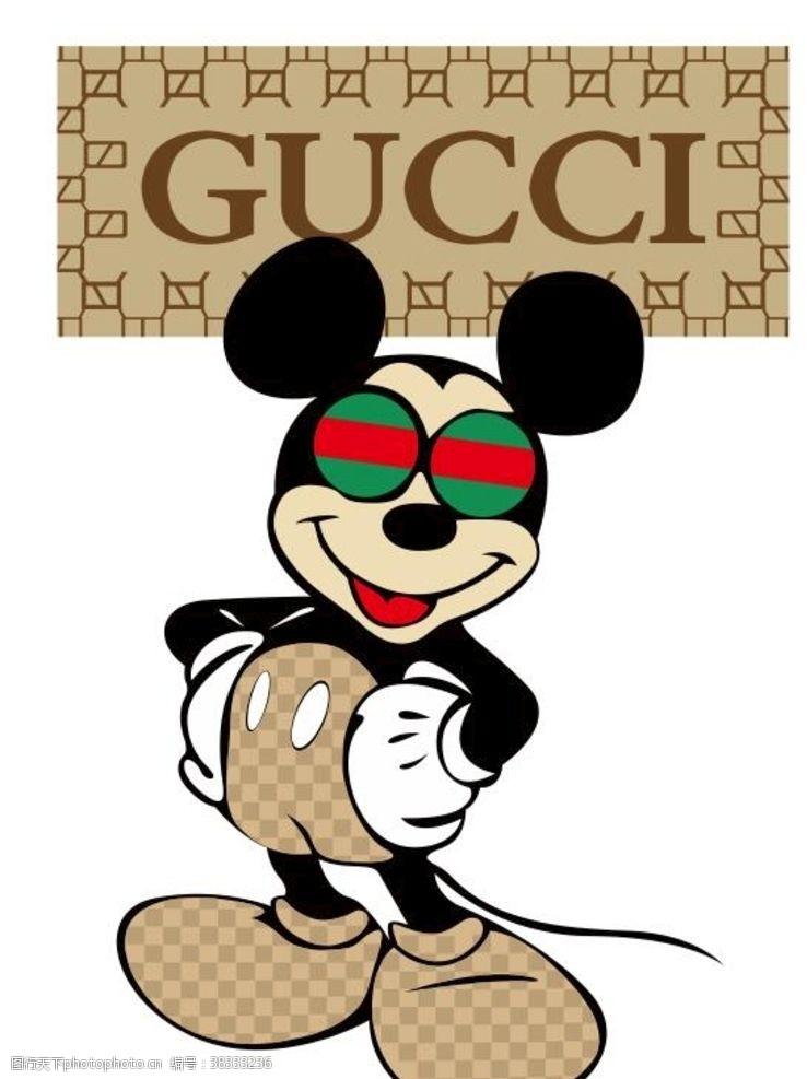 卡通图案卡通漫画米奇米老鼠手绘T恤热图