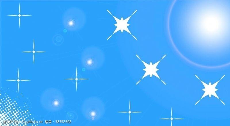 其他设计蓝底白挑光圈点状素材